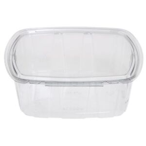 Crystal Seal 64 Oz Clear Plastic Tamper evident Disposable Container 8 3 4 l X