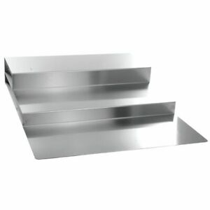 3 step Deli Riser Meat Riser Stainless Steel 30 L X 24 W X 5 H