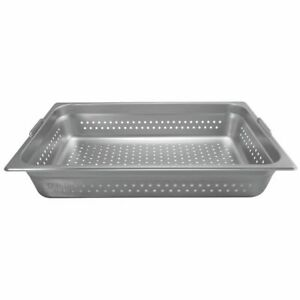 Hubert Steam Table Pan Full Size Perforated With Handles 22 Gauge Stainless