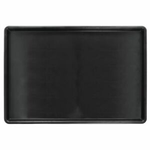 Hubert Bakery Case Tray Market Tray Rectangular Flat Black Plastic 26 l X 18 w