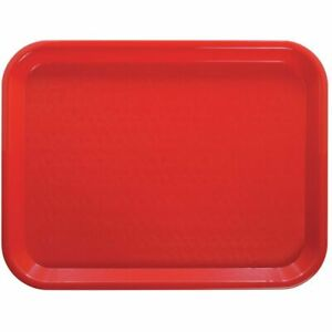 Hubert Fast Food Tray Red Plastic 16 L X 12 W 24 Per Case