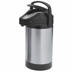Hubert Airpot Coffee Server 3 Liter Stainless Steel Airpot With Lever