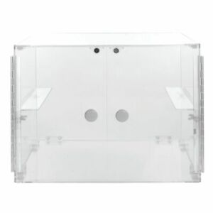 2 tier Stackable Display Case Rectangular Clear Acrylic Countertop 19 l X 15