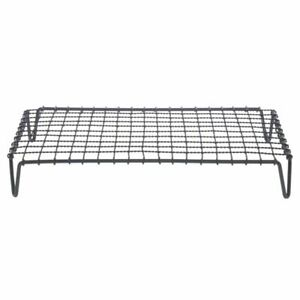 Display Riser With Grates Rectangular Black Powder Coated Iron 20 L X 12 W X