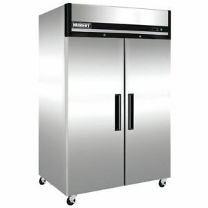 Hubert Commercial 2 Door Reach In Freezer 49 Cu Ft 54 L X 32 7 8 W X 82 5 16