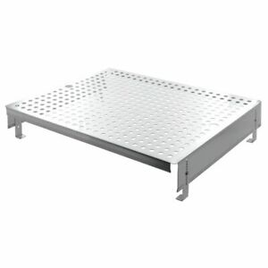 Hubert Steam Table Pan Riser Double Well Perforated Stainless Steel 19 l X