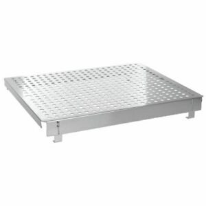 Steam Table Pan Riser Single Well Perforated Stainless Steel Adjustable Elevator