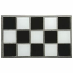 Steam Table Well Covers Hot Food Tiles Black white Checkered 21 L X 12 3 4 W