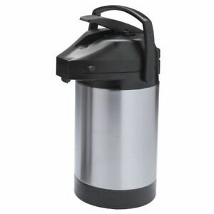 Hubert Airpot Coffee Dispenser With Lever Lid Stainless Steel 2 1 2 Liter
