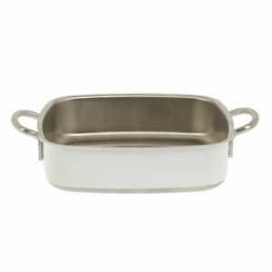Stainless Steel Lasagna Casserole Pan 3 ply Square White 10 1 4 L X 10 1 4 W