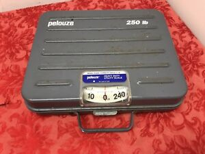 Pelouze P250 Scale Heavy Duty Utility Parcel Shipping 250lb Locking Mechanism