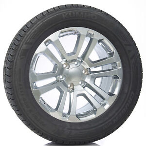 20 Split Spoke Chrome Wheels Rims Kumho Tires Chevy Silverado Suburban Tahoe