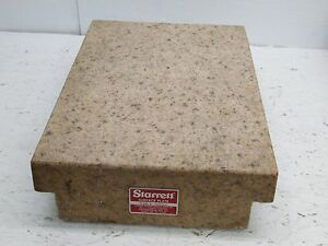 Starrett Crystal Pink Granite Surface Inspection Plate 18x12x4 Toolmakers Flat
