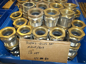 lot 10 Pcs Peppers Cable Glands Gu15 3bt W Brass Inserts 1 Npt