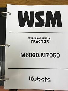 Kubota M6060 M7060 Tractor Workshop Manual Binder
