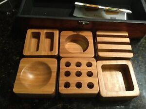 Desk Set With 6 Matching Bamboo Desk Trays Comes In Elegant Wooden Box