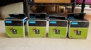 Four Rolls New Genuine Dymo Lw 30256 Large White Shipping Labels 2 5 16 X 4