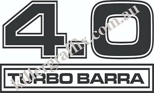 Killer Graffix Custom 4 0 Turbo Barra Decal sticker Ford Falcon 1 Pair 30cm Wide