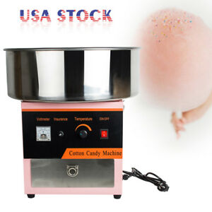 Electric Cotton Candy Machine Floss Maker Commercial Carnival Party Pink Us Ship