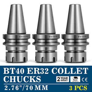 3pcs Bt40 er32 70mm Collet Chucks Balanced To G6 3 15000rpm Tool Holder Set