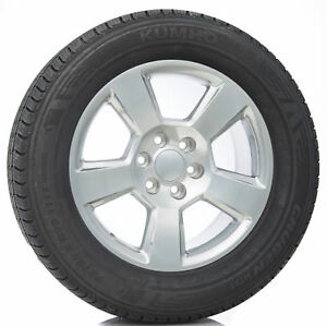 20 New Style Polished Wheels Rims Kumho Tires Chevy Silverado Suburban Tahoe