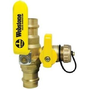 Webstone 80615w 1 1 4 Propress Full Port Forged Brass Ball Valve