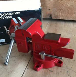 Vintage New In Box Fuller No 1773 3 1 2 Swivel Base Bench Vise With Anvil