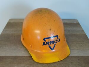 Vintage Armco Steel Msa Factory Iron Construction Workers Hard Hat helmet Z89