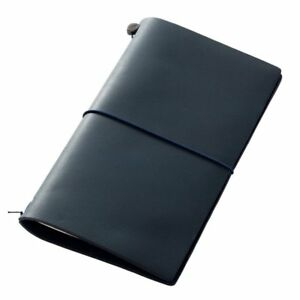 New Midori Traveler s Notebook Blue Edition Leather Cover 2015 Ltd Color Jp F s