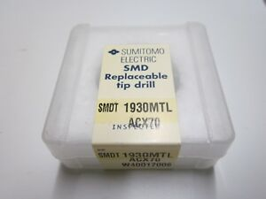 New Sumitomo Smdt1930mtl Acx70 19 3mm Carbide Smd Replaceable Drill Tip