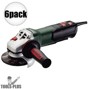 Metabo Wp9 115 Quick 4 1 2 8 Amp Angle Grinder W Non locking Paddle 6x New