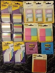 Post it Tabs Flags And Note Pads Assortment New See Description