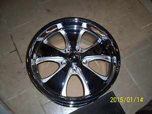 Qasis 20x8 5 B 1 Chrome Rim Hot Rod 5 Spoke Truck 5 Lug Big Bolt Gm Chevy 5x5
