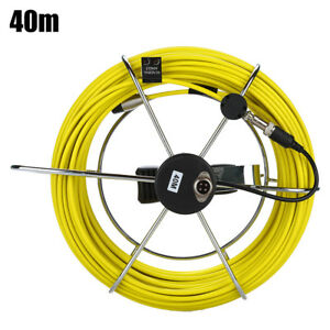 40m Sewer Pipe Inspection Camera Video Endoscope Wire Cable Waterproof Yellow
