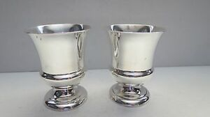 Watrous Mfg Co Pair Of Sterling Silver Wine Cups Cordial Nm