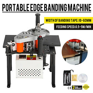 Woodworking Portable Edge Banding Machine 40mm Edge Dia Straight Bander Popular