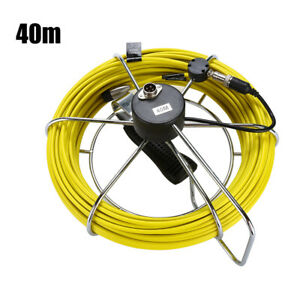 40m 130ft Sewer Pipe Inspection Camera Video Endoscope Cable Waterproof Yellow