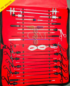 Laparoscopy Arthroscopy Urology Endoscopy And Hip Surgical Instruments 24 Pc Kit