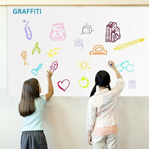 Dry Erase Whiteboard Sheet Self adhesive Wall Sticker Contact Film School Home