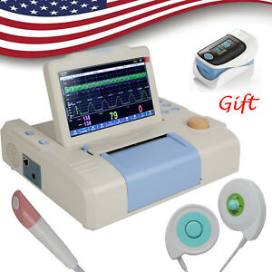 7inch Color 3 Parameters Fhr Toco Single Monitor Touch Screen Fetal Monitor gift