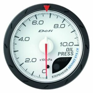 Defi Df08901 Advance Cr Oil Pressure Gauge White 60mm