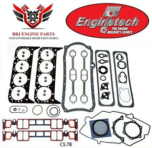 Enginetech Chevy Sbc 350 5 7 Overhaul Gasket Set 1996 2002