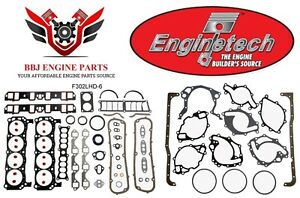 Ford Mercury 302 5 0 Enginetech Gasket Set 82 85 Includes Hd Head Gaskets