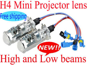 H4 Mini Xenon Bi Xenon Hid Projector Lens Headlight Kit Lamp Light Bulb Hb2 9003