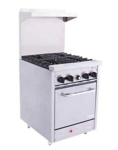 Venancio 24 Heavy Duty Gas Range 4 Burners And Oven Controls S240