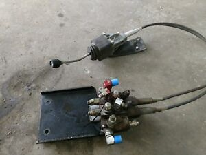 Jcb Front Loader Hydraulic Controls With Bracket Hoses