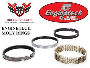 Enginetech Ford 302 5 0 351w 5 8 V8 Moly Piston Rings