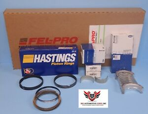 Felpro Hastings Clevite Chevy Sbc 350 Re Ring Kit With Main Bearings 80 85
