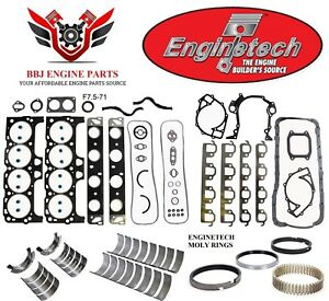 Ford 460 7 5 1992 1994 Enginetech Rering Rebuild Kit With Main Bearings
