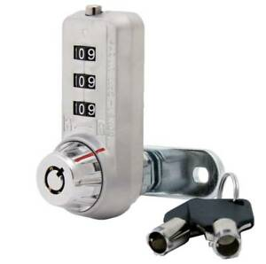 Combi cam Ultra 3 dial With 5 8 Cylinder Key Cabinet Gym Locker Lock